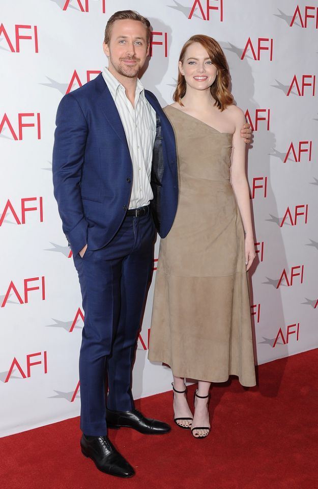 <p>The same day as the AACTA Awards, Stone reunites with Gosling at the AFI Awards, where 'La La Land' is named one of the best movies of the year. (Photo: Jon Kopaloff/FilmMagic) </p>