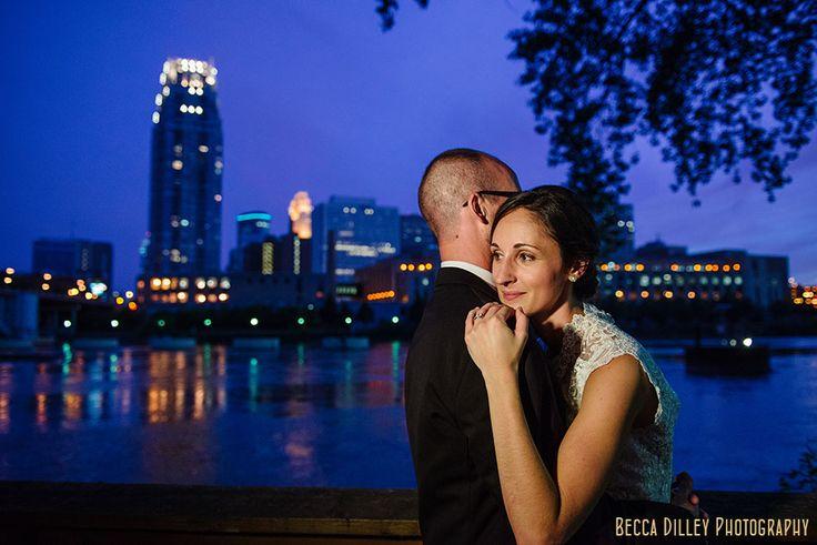 LED light Nicollet Island Pavilion Wedding Minneapolis