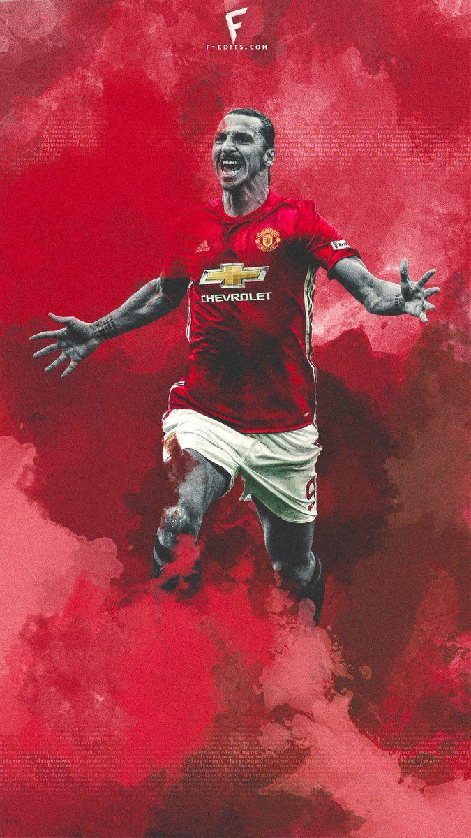 Fredrik On Twitter Zlatan Ibrahimovic Manchester United Football Club Football Wallpaper