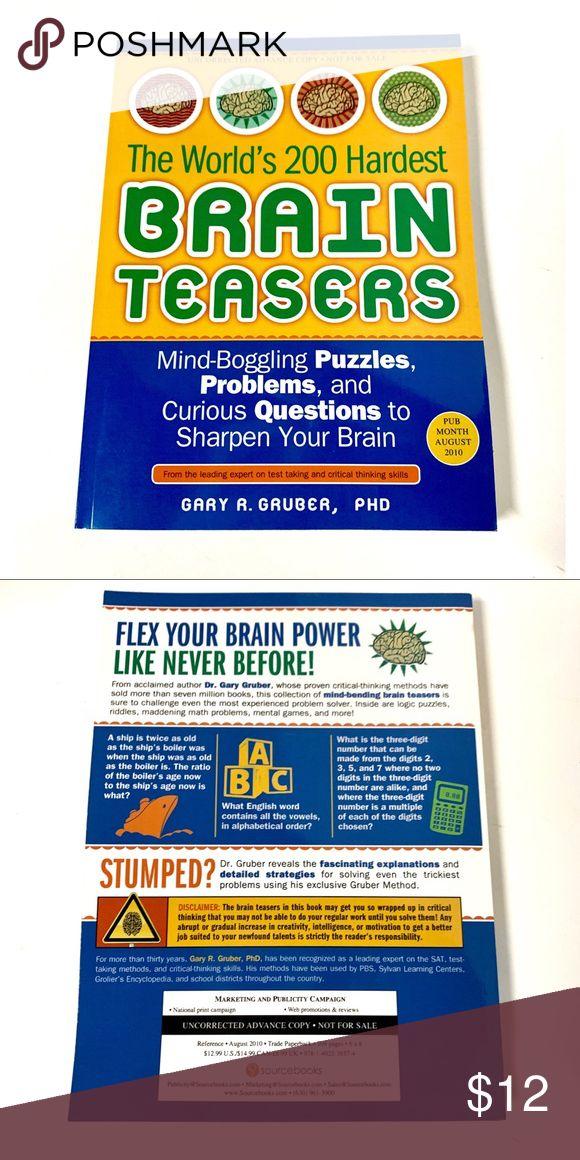 The World's 200 Hardest Brain Teasers Book Inside are