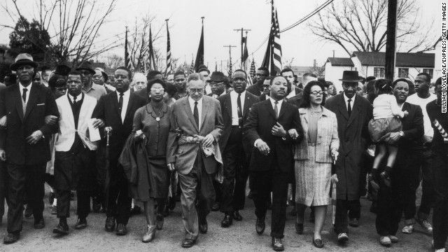 """""""48 years after MLK march, voting rights still vulnerable"""" - Nicolaus Mills via CNN"""