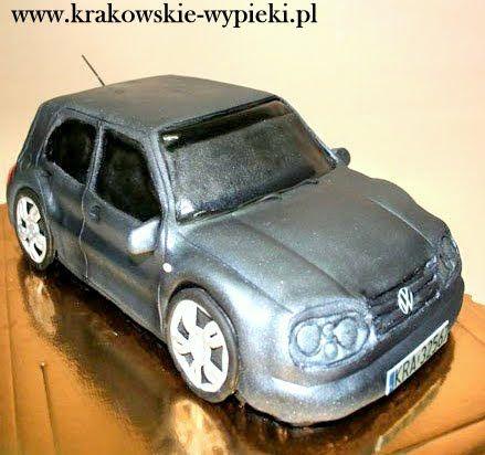 Tort Volkswagen z Cukierni Krakowskie Wypieki