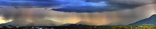 nice amazing weather images and pics - Tropical Rainstorm Across The City of Cairns: HDR pano - Feb 27, 2013