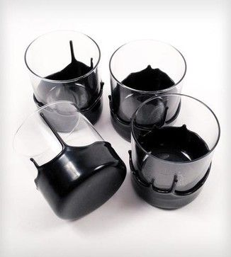 Dripped Wax Glassware eclectic cups and glassware $36