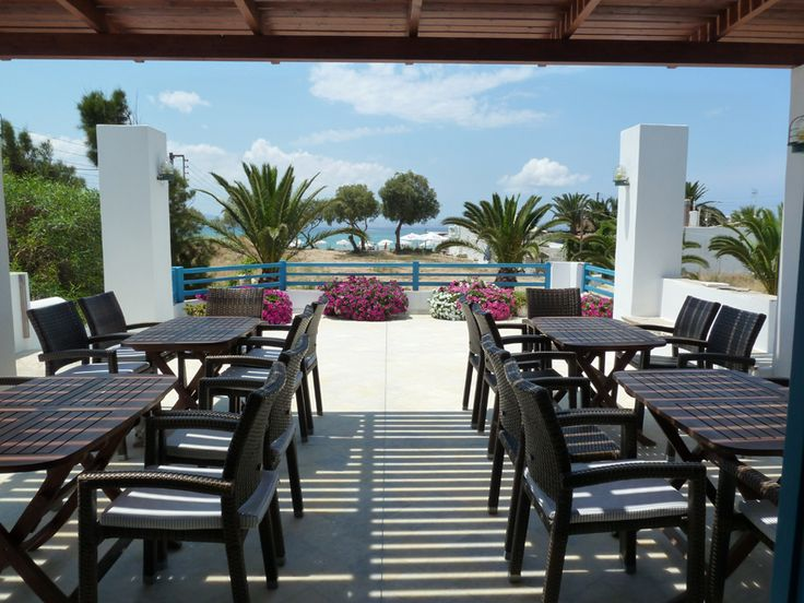 Breakfast area with seaview, Villa Naxia, Naxos, Greece