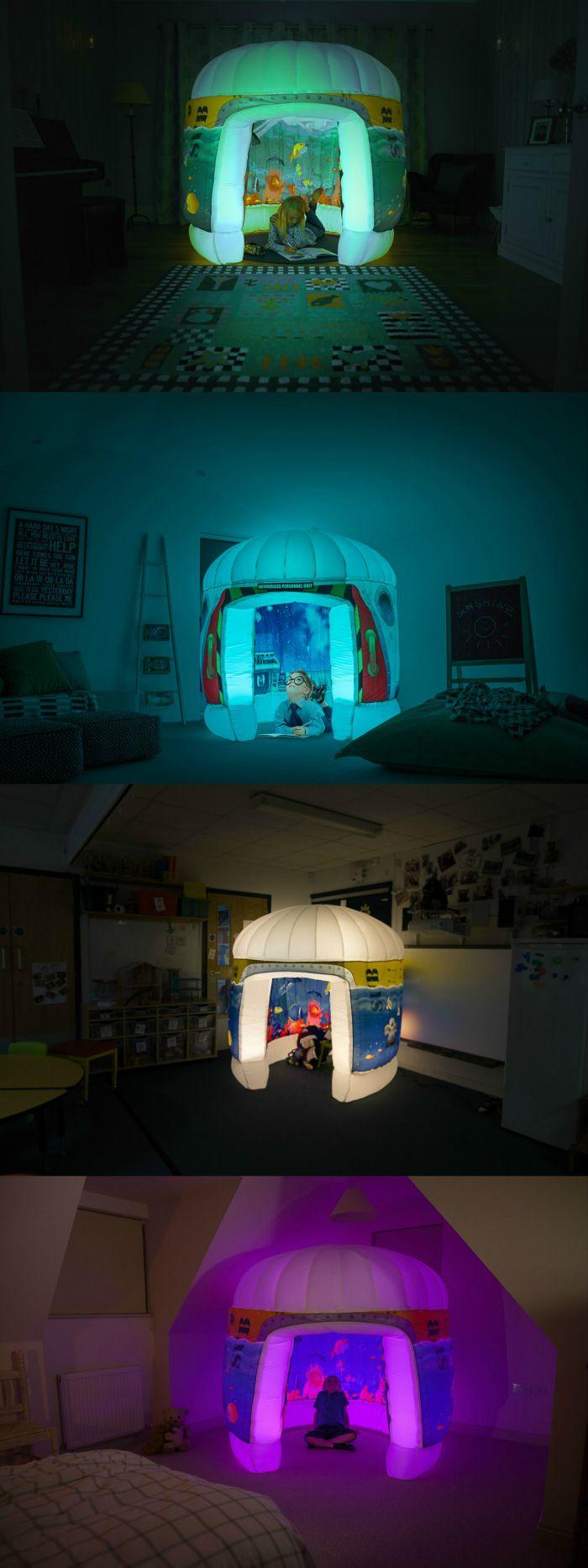 Inflatable light up sensory play pods for your sensory play area or sensory room