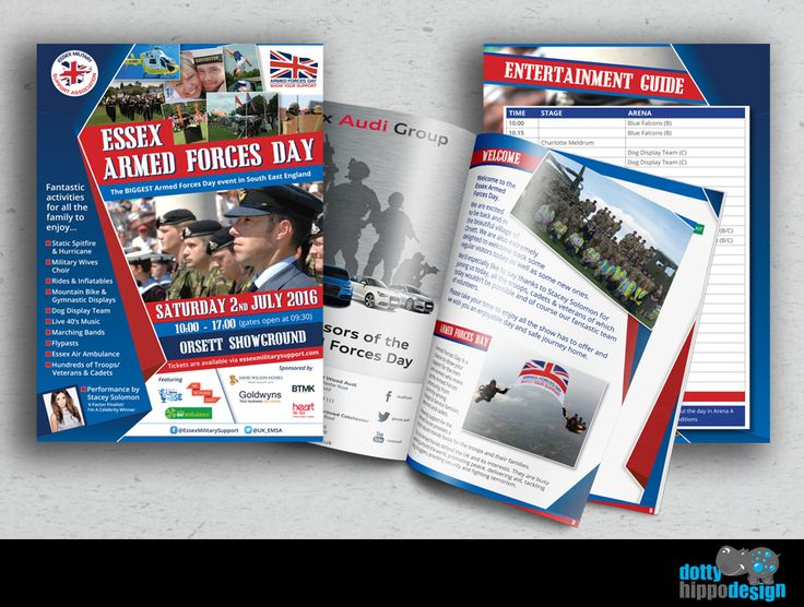 Brochure design for Essex Military Support Association. Great project to work on!