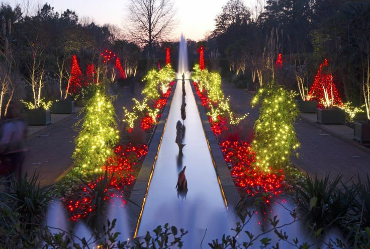 The lights in our Canal Garden always dazzle during Holidays at the Garden 2013 at Daniel Stowe Botanical Garden.