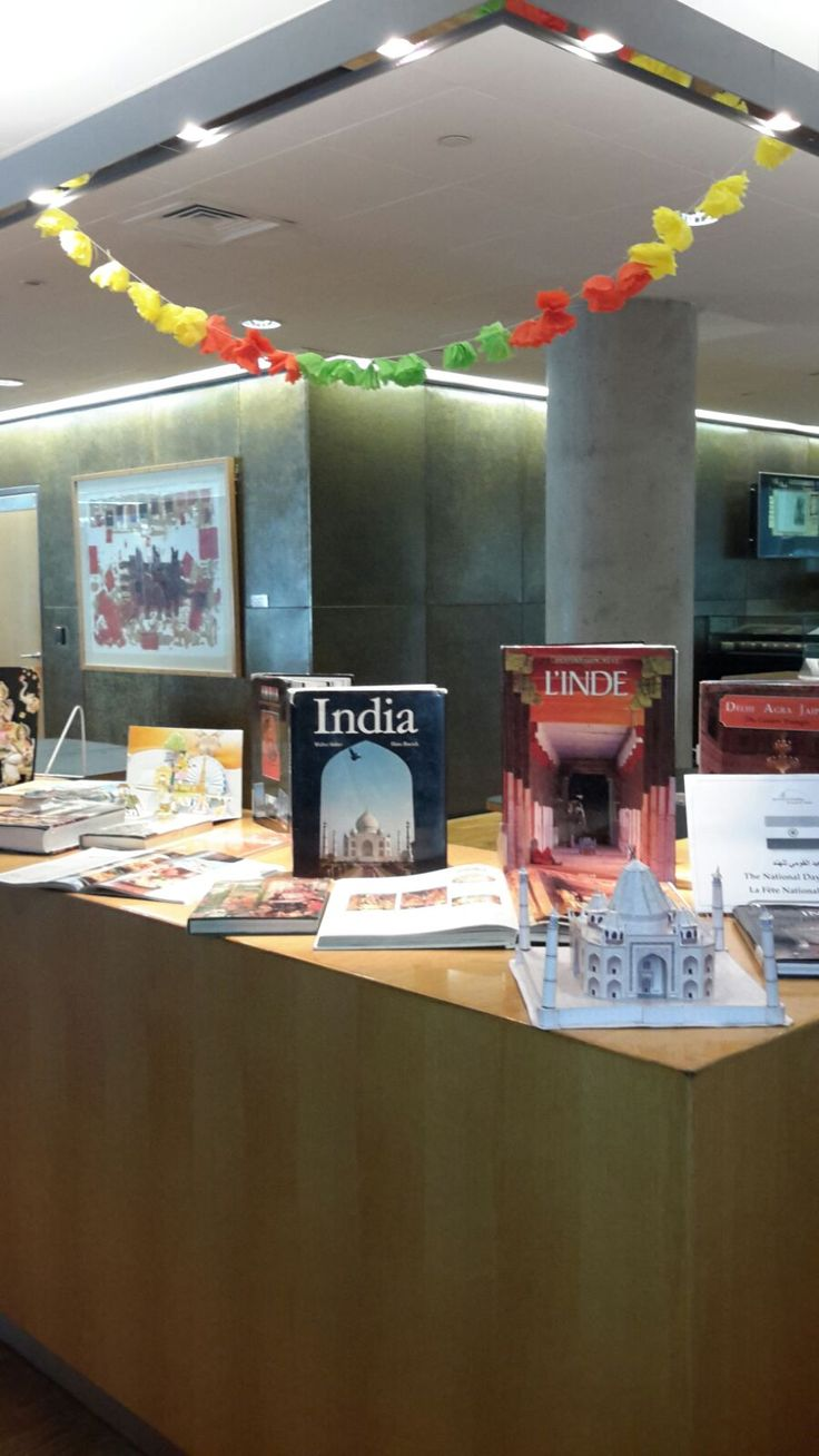 """National Day of India"" book display at the Bibliotheca Alexandrina   العيد القومي للهند"