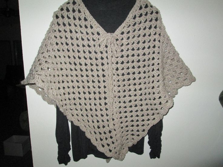 Tan Poncho Crocheted by SuzannesStitches, Poncho Crochet, Hippy Poncho Crochet, Festival Poncho Crochet, Handmade Poncho Crochet, Poncho by SuzannesStitches on Etsy