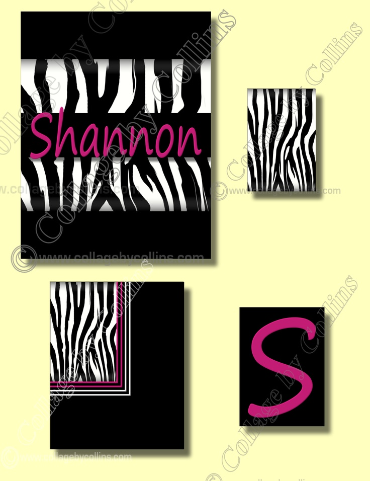 28 best Zebra Animal Print Personalized Giraffe Leopard Cheetah ...