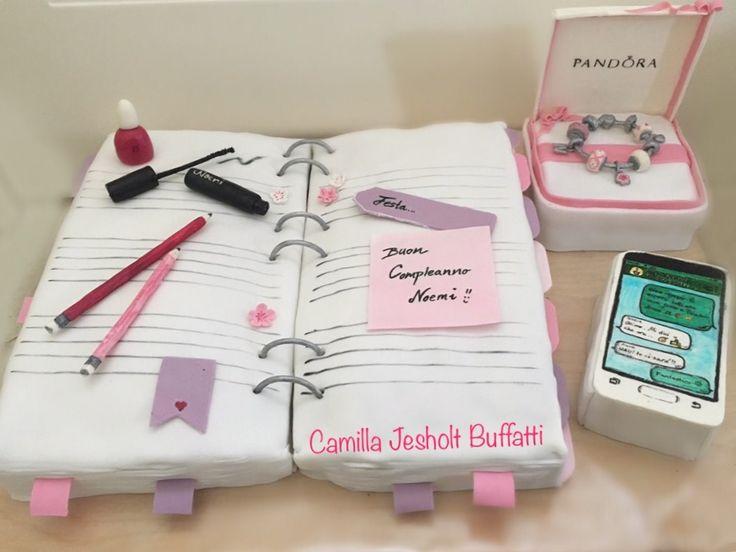 Torta compleanno 15 anni / torta teenager/ torta Pandora - le dolci creazioni di Camilla Jesholt Buffatti