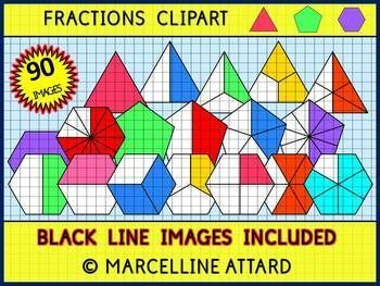 FRACTIONS CLIPART-TRIANGLES,PENTAGONS &HEXAGONS-90 IMAGES-OK FOR COMMERCIAL USE  PERFECT FOR YOUR FRACTIONS UNIT! A REAL DEAL :) ★Click to view this resource! ★