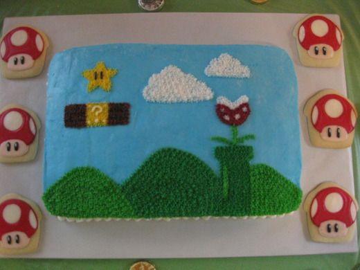 Mario Cake & Cookies--6th Birthday cake??