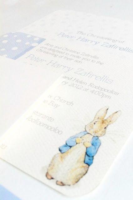 Peter Rabbit Christening by www.imprintables.com.au and www.hellonaomi.com.au
