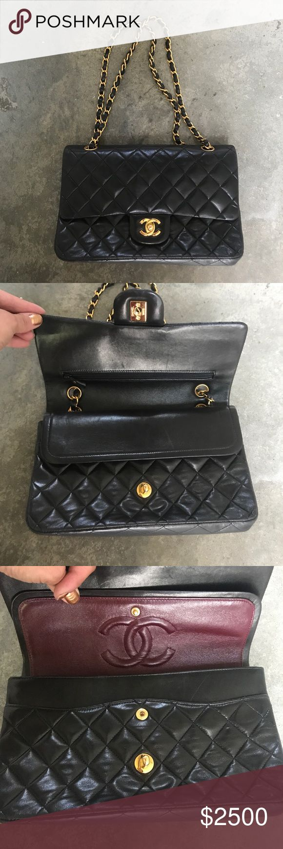 """Authentic CHANEL Classic Flap Chain Shoulder Bag New without tags. 10""""x6.25""""x2.55. Gorgeous Lamb skin leather bag. CHANEL Bags Shoulder Bags"""