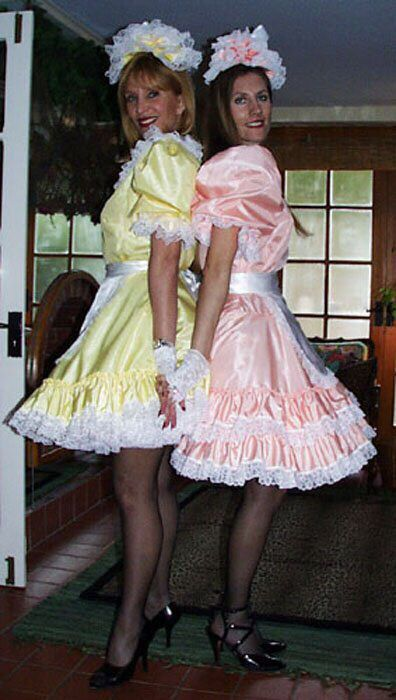 These boys love petticoats....is the original caption ...