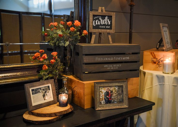 Rustic wedding ideas - card box, personalized card box, wine crate, LaBelle Winery Wedding