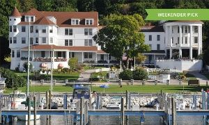 Groupon - Stay with $ 40 Dining Credit at Island House Hotel in Mackinac Island, MI. Dates into October. in Mackinac Island, MI. Groupon deal price: $179