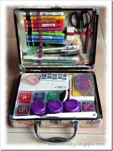 How to make an art journal kit.Art Kit, How To Make An Art Journals, Kits Inspiration, Travel Art, Inspirationart Journals, Journals Travel, Art Journals Kits, How To Art Journals, Journals Art Supplies