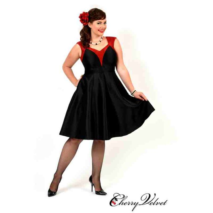 PRE-ORDER - Dita Dress (Black and Red) $200.00 http://www.curvyclothing.com.au/index.php?route=product/product&path=95_151&product_id=10253