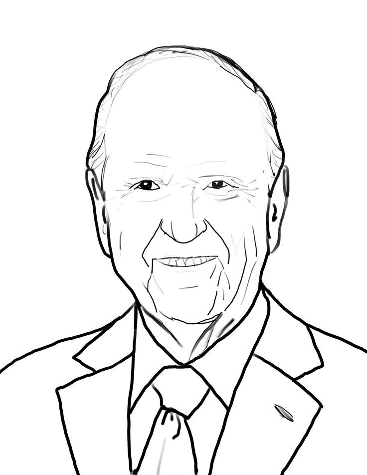 President Russell M Nelson Coloring page scrap layers
