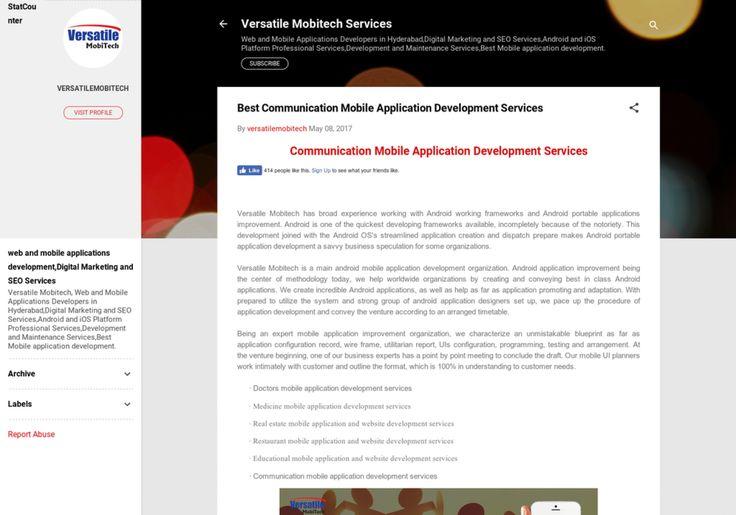 Best Communication Mobile Application Development Services Infographic
