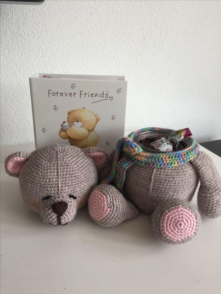 Forever friend beer(potje) gemaakt voor m'n buurvrouw #verjaardag #receptenboekje