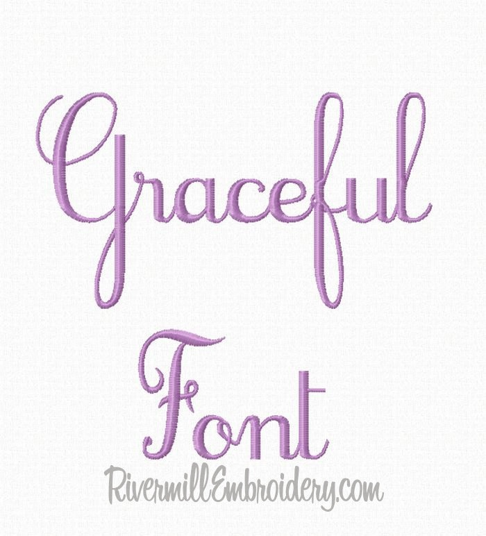 Graceful Machine Embroidery Font Monogram Alphabet - 3 Sizes. $2.95, via Etsy.