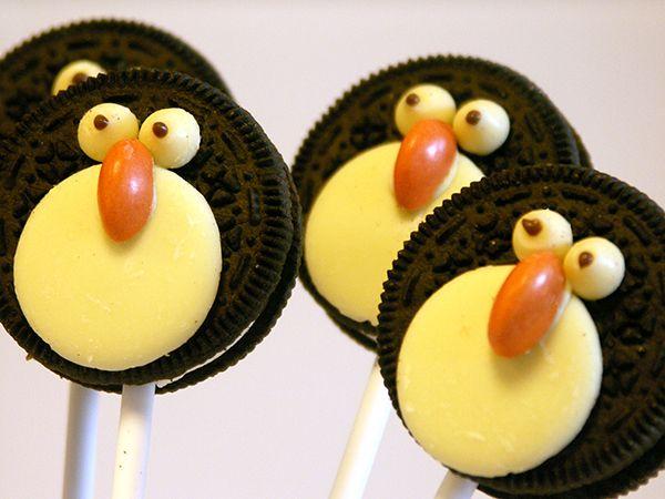Christmas Food, Penguin Oreo Pops