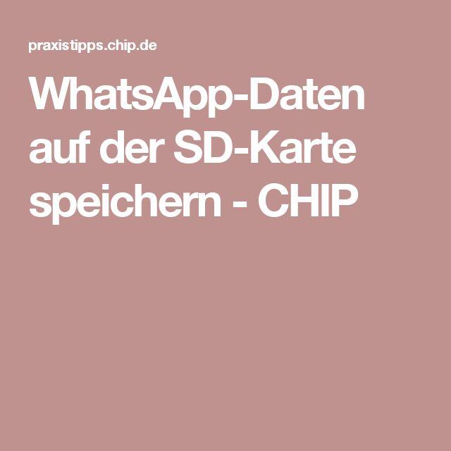 WhatsApp-Daten auf der SD-Karte speichern - CHIP