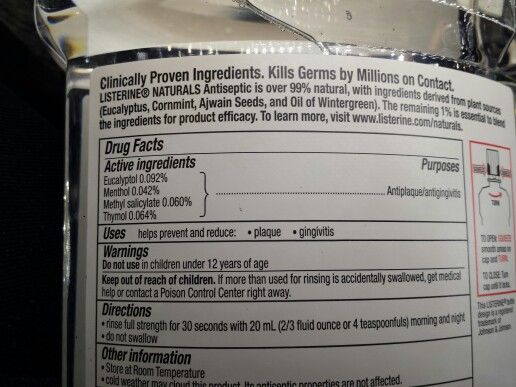 Natural Listerine ingredients