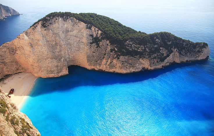 Plaz Ztroskotani ostrov Zakynthos