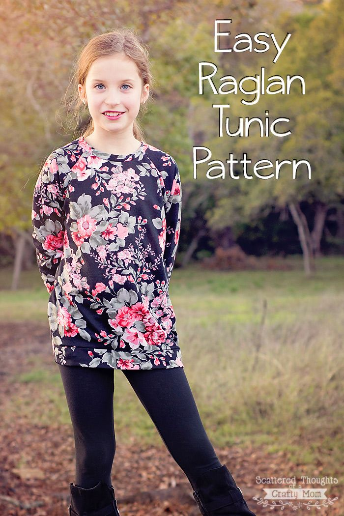 Make a simple Raglan Tunic Top with this free pattern!
