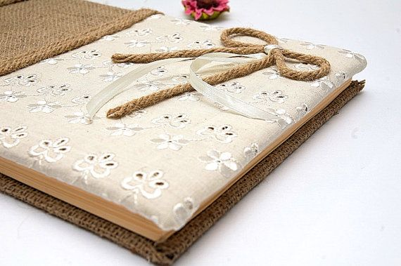 Vintage Wedding Guest Book Traditional Retro by LenaWeddings,