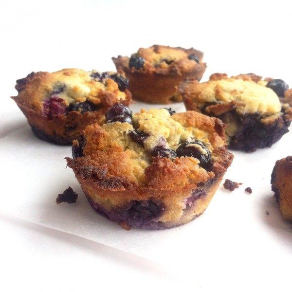 Zelf muffins makenblijft altijd een feestje. Er zijn zoveel combinaties mogelijk!Deze smeuïge muffins van kokosmeel zijn glutenvrij en bevatten alleen natuurlijke suikers. Dit heb je nodig (6 muffins) 50 gram kokosmeel 3 eieren Schil van 1 citroen 2 el kokosolie (gesmolten) Scheutje agavesiroop (of andere natuurlijke zoetmaker) Snuf Himalayazout 1 tl wijnsteenbakpoeder 100 gram blauwe …