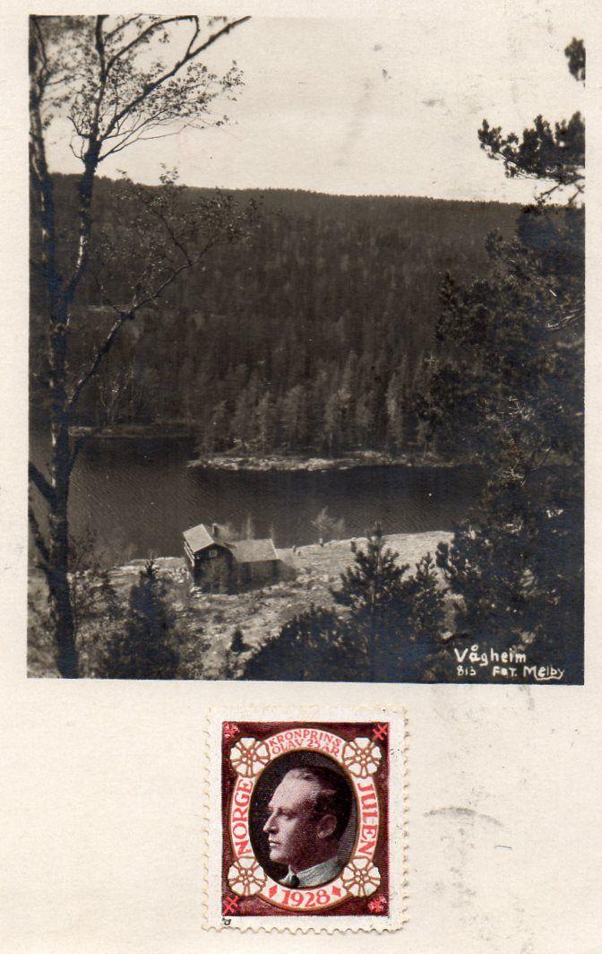 Østmarka. Skihytta Vågheim ved Elvåga. Stmp.1928