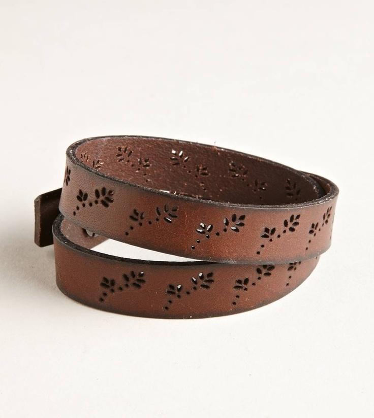 AEO Leather Wrap Cuff