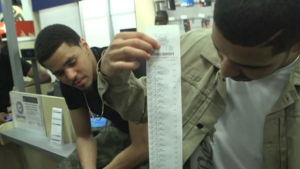 """J.Cole And Drake Buy """"Born Sinner"""" At Best Buy"""