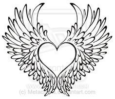 Heart with Wings Tattoo by ~Metacharis on deviantART