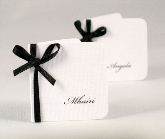Wedding Place Cards Wedding Place Name Card by PaperWhispers, $5.00