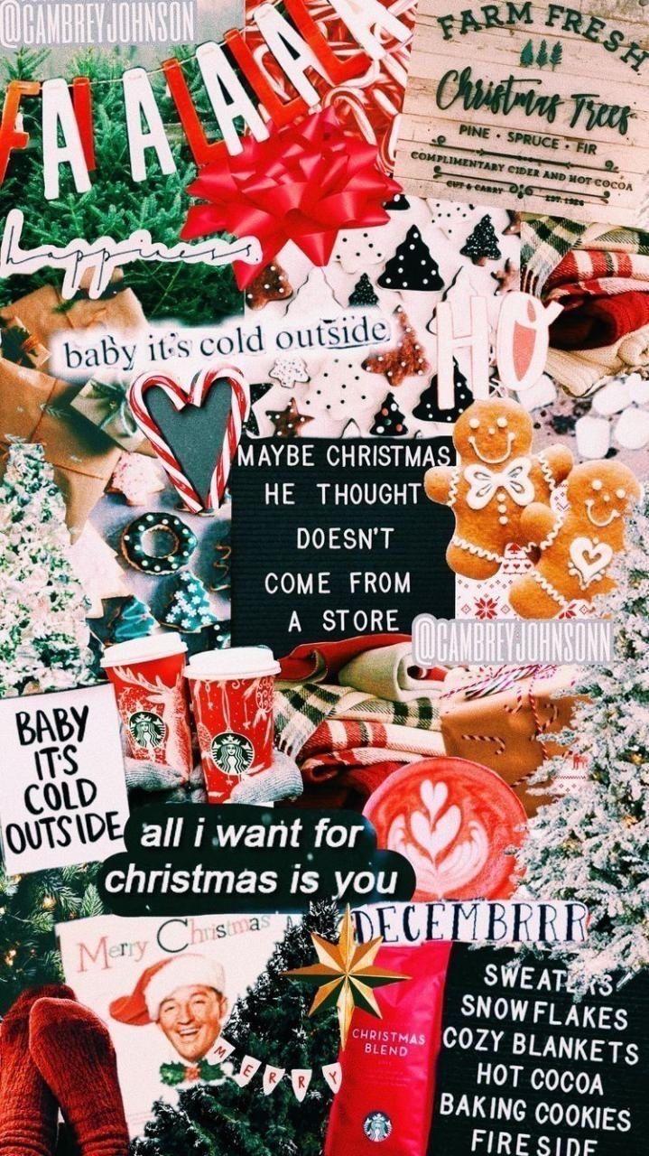 Vscobeachbabes Vsco Christmas Wallpaper Cute Christmas Wallpaper Christmas Collage