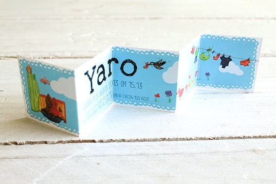 Birth card for baby Yaro on Behance