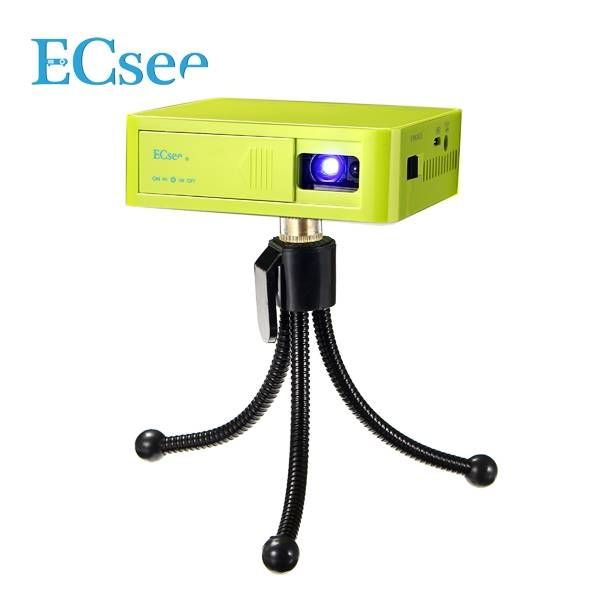 Ecsee es130 mini dlp projector hdmi white green portable for Beamer portable