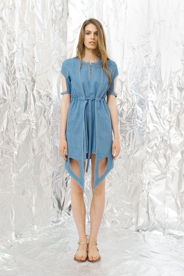 Blue Jeans Dress by DAIGE on Young Republic