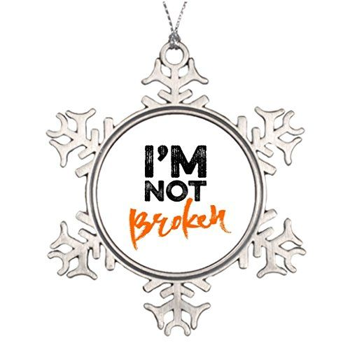 Pracy Personalised Christmas Tree Decoration Im Not Broken  Hand Lettering Typography Design Typography Santa Decorations >>> See this great product.