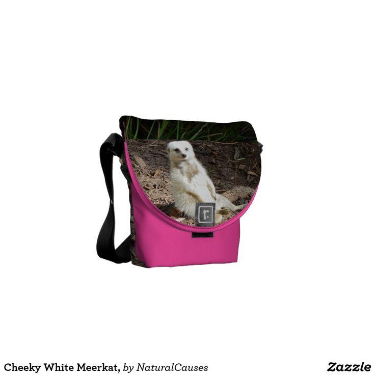 Cheeky White Meerkat, Messenger Bag