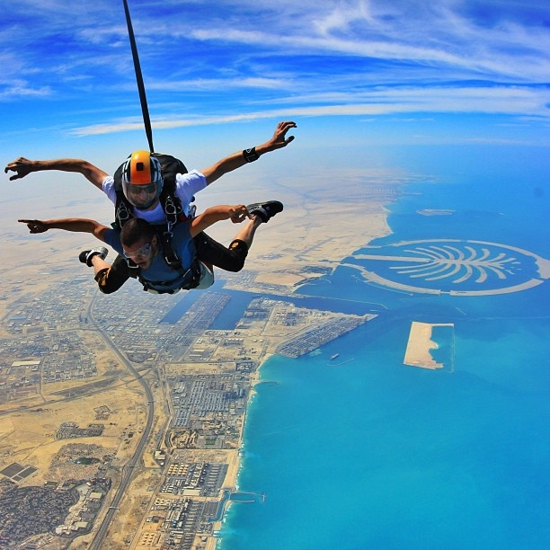 Sky diving in Dubai! This has always been a dream of mine-especially over Dubai! 30th b-day, here I come!