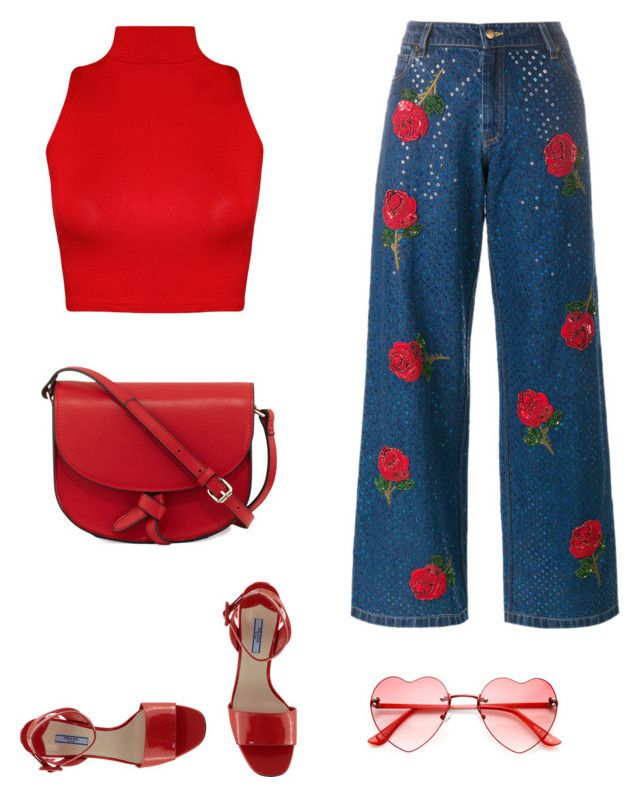 """red ❤️🌿"" by parisianights on Polyvore featuring moda, WearAll, Ashish ve KC Jagger"