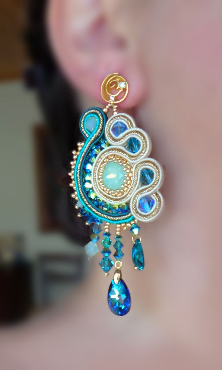 Soutache earrings Serena Di Mercione